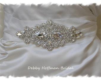 Bridal Sash, Rhinestone Bridal Belt, Jeweled Wedding Dress Sash, Crystal Bridal Belt, No. 1181S, Wedding Accessories, Belts, Sashes