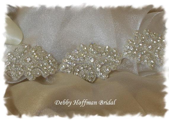 Bridal Headband, Rhinestone Crystal Bridal Halo Headband, Jeweled Wedding Headband, Bridal Head Piece, Wedding Hair Piece, No. 1171HB3