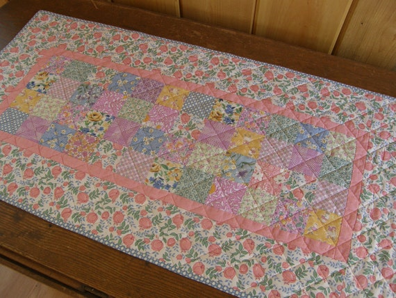 Cottage Chic Quilted Table Runner - 30's PATCHWORK
