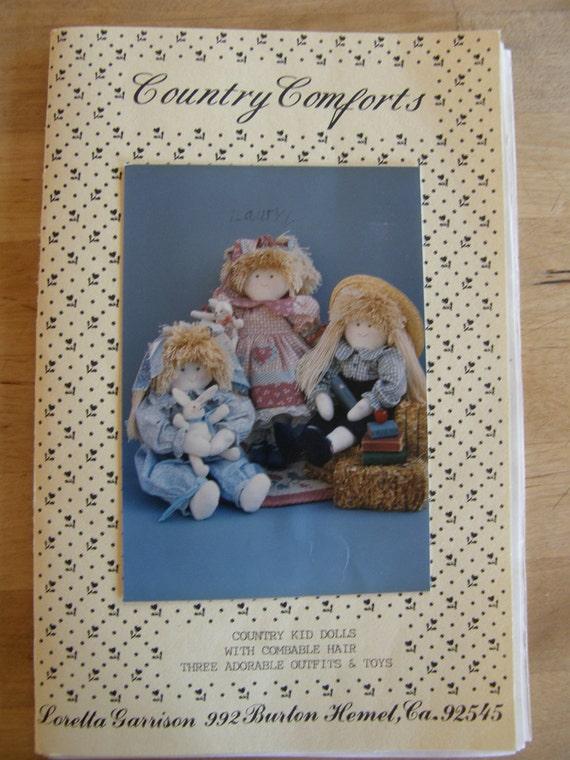 Vintage Rag Doll Pattern - Country Kid Dolls