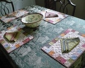 Custom Place Mats with Reversable Napkins