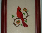 Embroidered Framed Bird Pictures