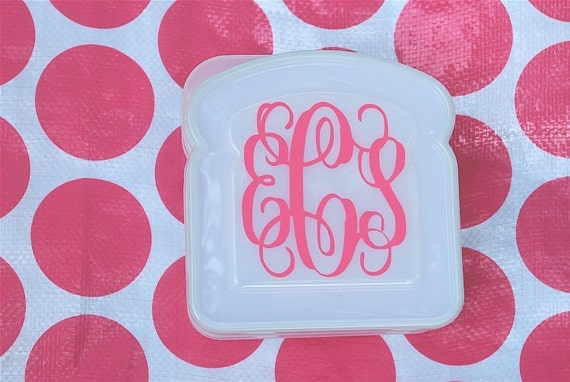 Monogram Sandwich Container - Monogram Lunch Box