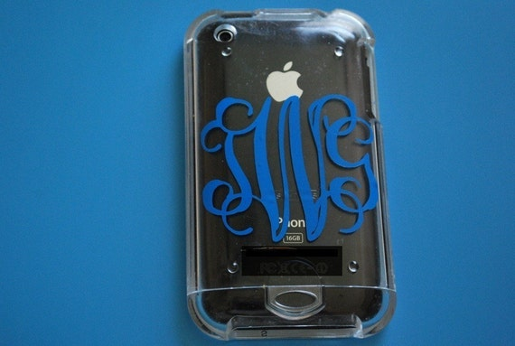 2 Inch Decal / Cell Phone Monogram