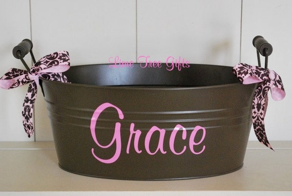 BROWN Personalized Bucket