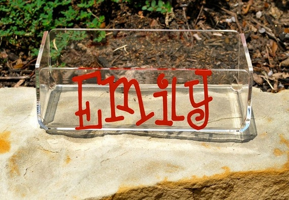 Personalized Container - Medium Acrylic Catch All