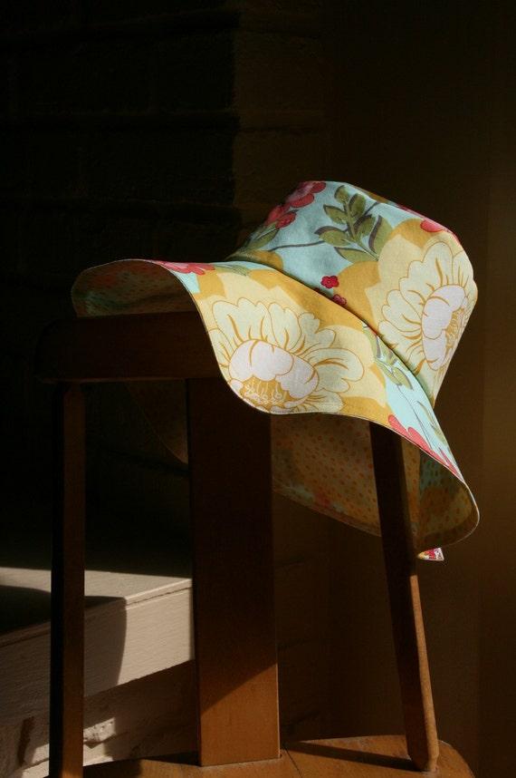 Kid's ecological one size REVERSIBLE fancy sun hat