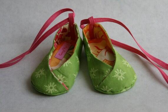 REVERSIBLE KIMONO Baby shoes 3-6m, 6-9m, 9-12m