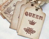 Vintage Inspired Tea Stained Gift Tags Assorted