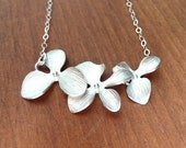 Three Orchid Flower Necklace
