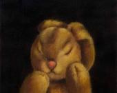 Bunny Rabbit Sleeping Portrait - Steiff