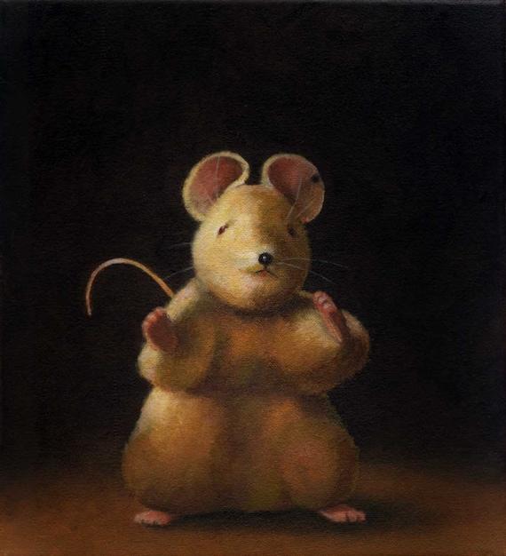 Vintage Mouse Toy Portrait - Steiff