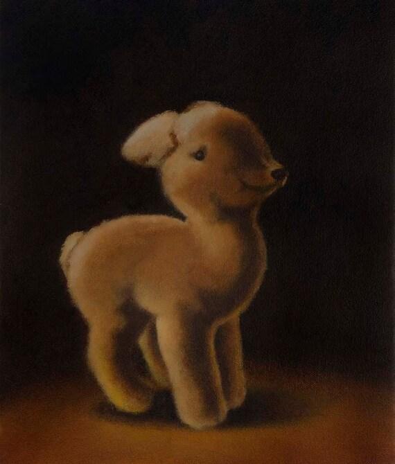 Vintage Deer Toy Portrait - Steiff