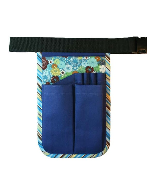 Gardening HipNotions Tool Belt Royal Blue Floral Stripe w/o added features