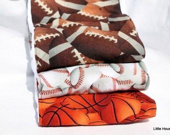 Sports Nut Burp Rag Set Cloth Diaper 3-pack