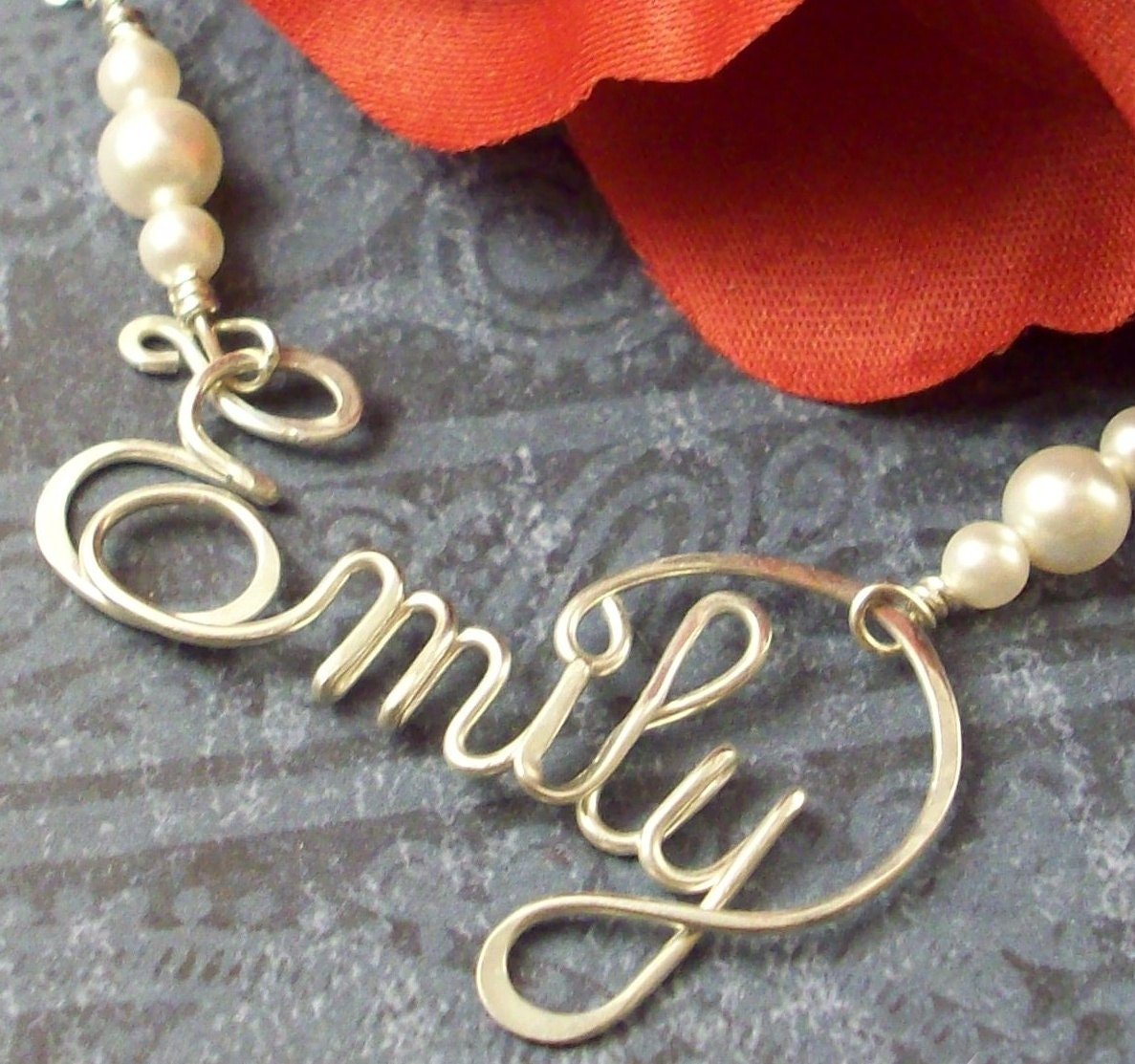 Personalized Calligraphy Style Script Name In Sterling Silver