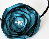 Midnight Teal Flower Headband