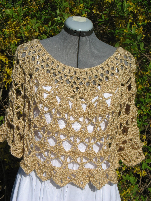 lacy crochet ladies capelet shoulder wrap shawl poncho