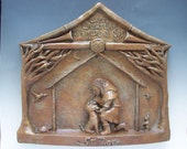 St. Roch, Patron of Dogs: Handmade Statue / Plaque (Large Size)