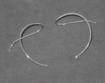 Sterling Silver Curve Earrings