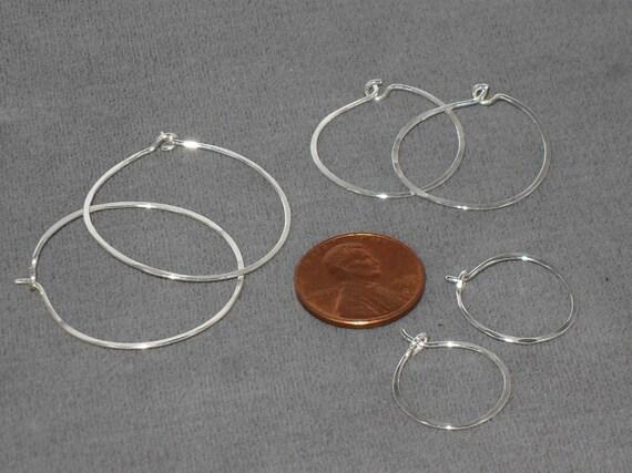 A Set of Sterling Silver Hoop Earrings