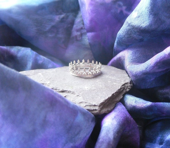 little sterling crown ring