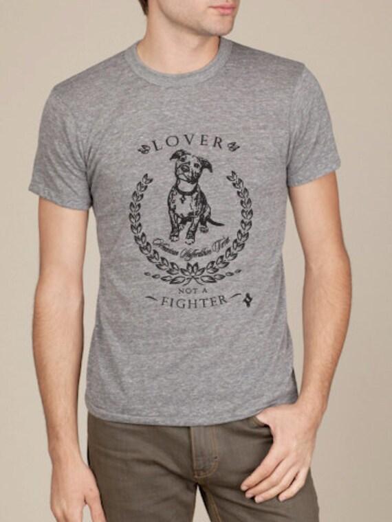 Pit Bull Shirt Lover Not A Fighter Men's Tshirt