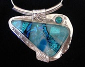 Stunning PMC Silver and Dichroic Glass Pendant