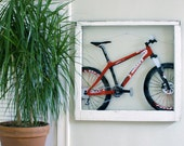 Large Window Spraypaint Art - Mountain Bike