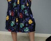 Vintage 80s/90s Boho Long Pocket Full of Petals Skirt