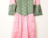 Vintage Unique Ethnic Handmade Sheer Pink Princess Dress