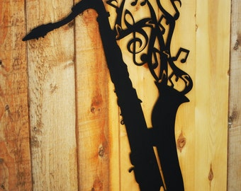 Saxophone, Metal Art for Indoors or Outoors