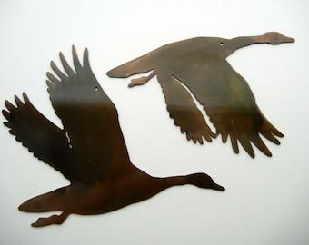 Ducks, Metal Art