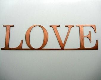 Love, Metal Word Art