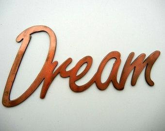 Dream, Metal Word Art