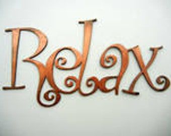 Relax, Metal Word Art