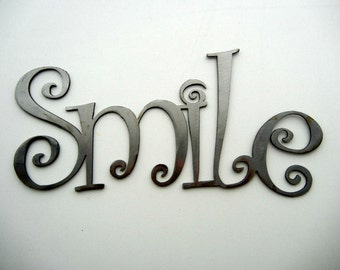 Smile, Metal Word Art