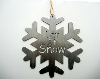 Let it Snow - Snow Flake - Metal Artsy Sign