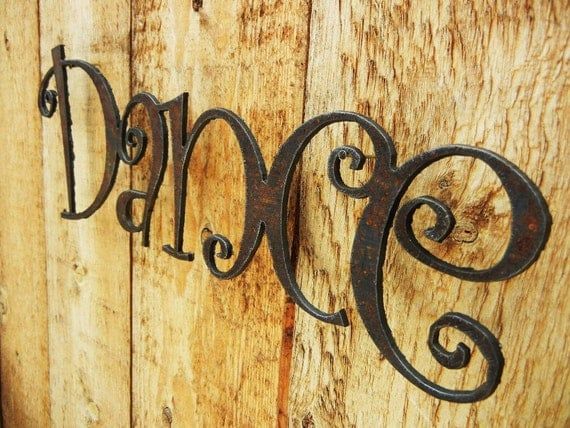 Dance, Metal Word Art for Indoors or Outoors