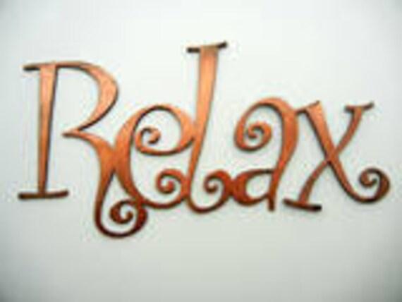 Relax, Metal Word Art