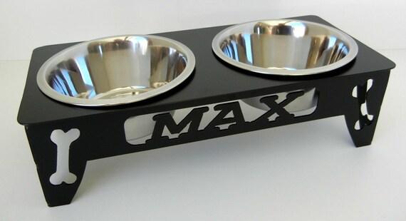 Custom Raised Dog Bowl Stand Small