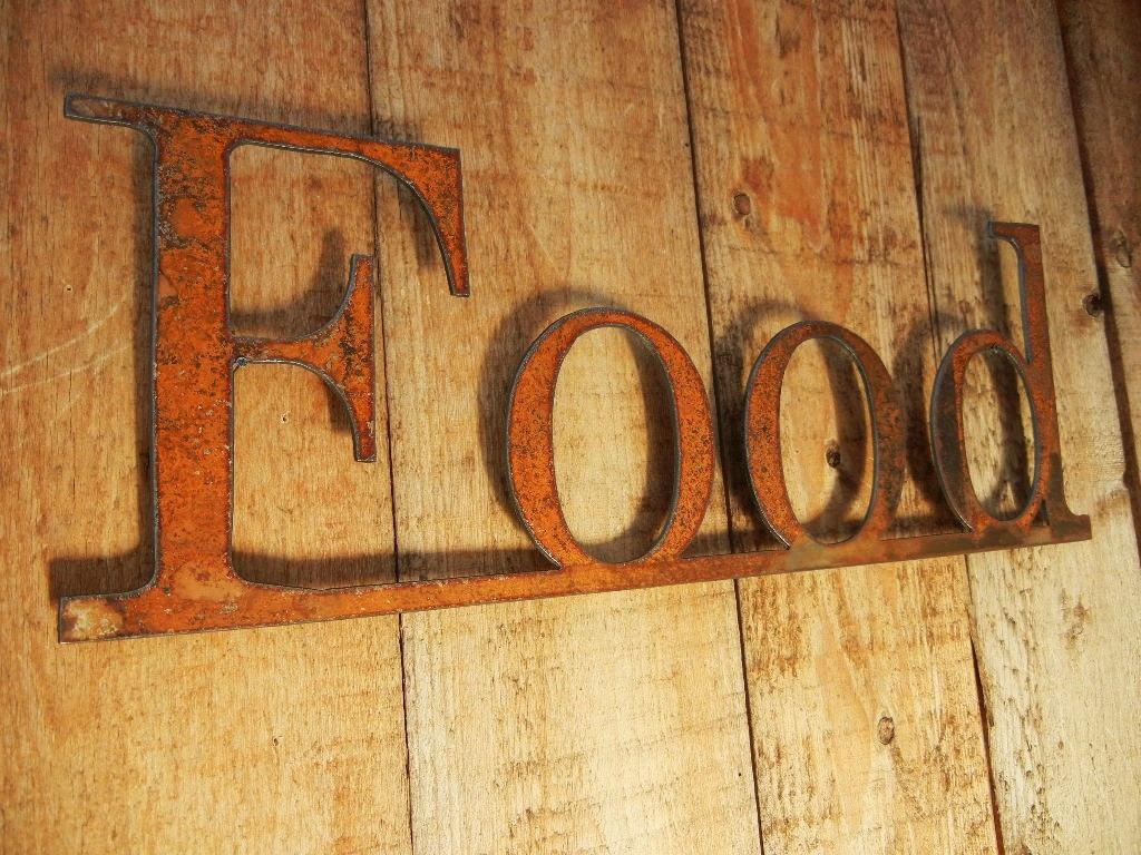 Food Metal Word Art For Indoors Or Outoors