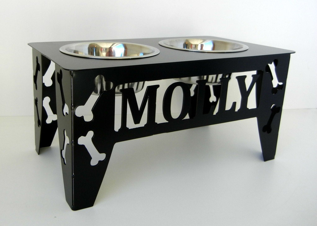 Custom Raised Dog Bowl Stand Medium - photo#38