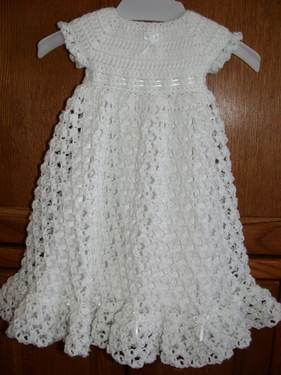 Crocheted Baby Blessing Christening Dress By Babysewsoft
