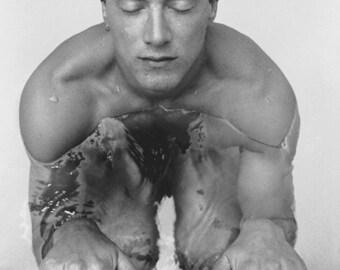 Male Swimmer Fine Art Silver Print