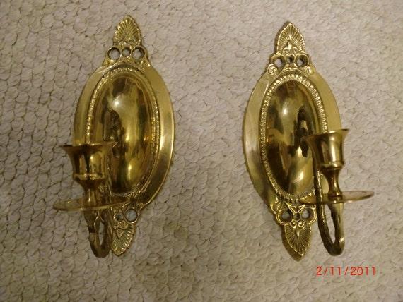 Vintage Brass Candle Sconces