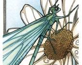SECONDS SALE - Slightly Imperfect Print - Art Nouveau Dragonfly 4x6 Print
