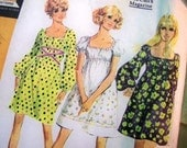 Vintage McCall's Pattern 9715, size 12 dress, Misses and Junior Dress in Three Versions, copyright 1969