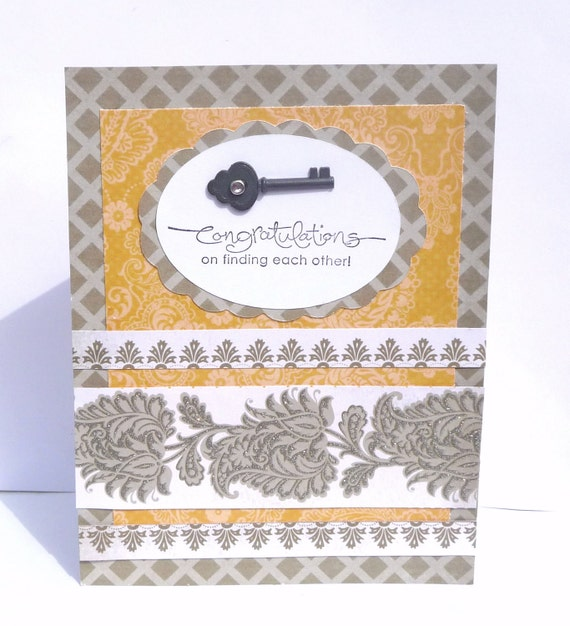 Congratulations Wedding Greeting Card - For the Bride and Groom, Bridal Shower Card, Engagement Card, Handmade Paper Card