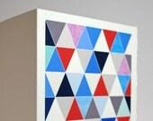 Multi-colored Triangle Card